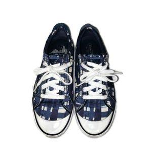 Coach Barrett Blue and White sneaker tennis shoe size 8.5